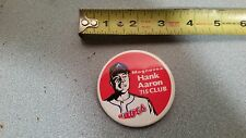 Vintage Hank Aaron Atlanta Braves Pin-back Button Pin 715 Magnavox