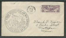 1930 First Flight Air Mail Route AM 27 - Fort Wayne IN. - Scott C12 On Cover