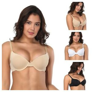 SEXY WOMENS UNDERWIRED SMOOTH COMFORT T-SHIRT BRA LINGERIE CUP SIZE A-DD/E