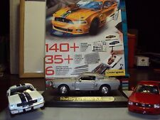 3 x ford shelby mustang 1:43 inc eleanor GT500 dagostini + carnet de croquis & crayons
