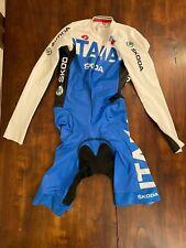CASTELLI BODY NAZIONALE ITALIANA LONG SLEEVE Skinsuit Time Trial TT Suit  M