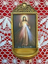"""DIVINE MERCY""  Holy Water Font, 6""H, X 3""W, Marco Sevelli Gift giving box *NEW*"