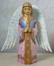 Folk Art Russian Hand-Carved & Hand-Painted Angel