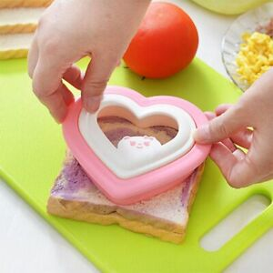 Set of 6 cutters Sandwich Cake Bread Toast Cookies Biscuit Cutter Mold Mould O2