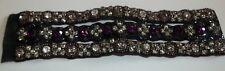 Anthropologie Black Beaded Crystal Magnetic Bracelet  NWOT
