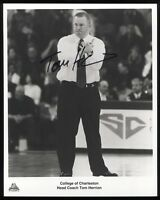 Tom Herrion Signed 8x10 Photo College NCAA Basketball Coach Autographed