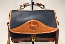 DOONEY & BOURKE Navy All Weather Leather ® Vintage Carrier Shoulder Bag New