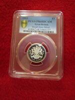 1992 Great Britain Silver Royal Arms .925 Piedfort 10 Pence PCGS PR69DCAM pop 1