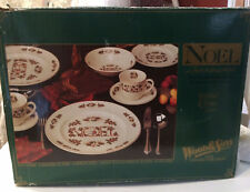 Wood & Sons Noel 20 Piece Christmas Dinnerware Set Free Shipping