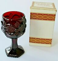 Avon Cape Cod 1876 Ruby Red Glasse 1 Small Cordial Wine Goblet Vintage in box