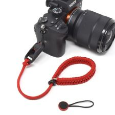 """Cordy Crossover"" Red Paracord Camera Wrist Strap with Peak Design Anchor AL4"