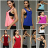 Summer Women Sexy Loose Gym Sport Vest Training Running Tank Top Yoga Blouse New