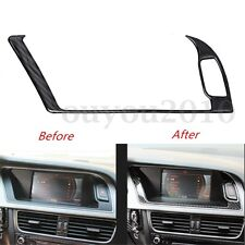 Carbon Fiber Console Warning Light Decal Cover Trim For Audi A4 B8 A5 2013-2015