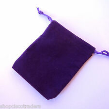 *ONE BAG* PURPLE Velour Drawstring 7x9cm QTY1 Party Favors Wedding Gift  A058