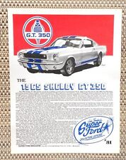 1965 FORD CARROLL SHELBY COBRA MUSTANG GT 350 289 CAR LITERATURE FACT SHEET 31