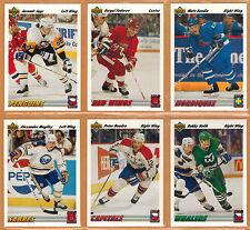 1991-92 , UPPER DECK , EURO-STARS , COMPLETE SET , 1/18