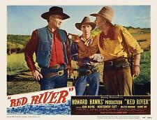 JOHN WAYNE MONTGOMERY CLIFT And WALTER BRENNAN In RED RIVER 11x14 LC Print 1948