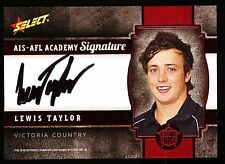 2013 Select Future Force Lewis Taylor Signature  AIS AFL Academy 141 of 200