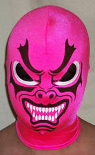 NEW BLACK PINK DRAGON PRO WRESTLING MASK COSTUME MADE IN USA BY SEXYSADIESPANDEX