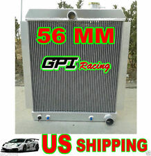 56MM FOR 1948-1954 CHEVY TRUCK PICKUP AT/MT 1949 1950 1951 ALUMINUM RADIATOR
