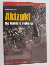 Kagero Libro Akizuki The Japanese Destroyer (Topdrawings)