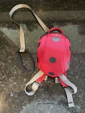 LittleLife Kids Backpack with detachable Reins & Grab Handle - LADYBIRD