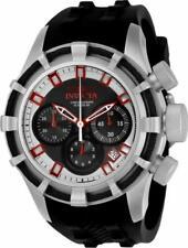 Invicta 22146 Bolt Quartz Chronograph Date Black Silicone Strap Mens Watch
