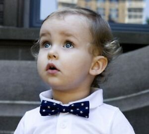 Stinky McGee Baby Toddler Boy Stylish Neck Wear Bowtie Holiday Blue Star