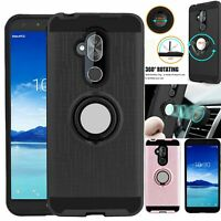 For Hauwei P20 Lite P30 Pro Shockproof Case Hybrid Cover With Ring Stand Holder