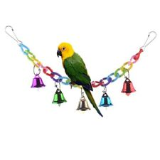 Colourful Climbing Swing Toy with Bell for Bird Parrot Parakeet Finch Cage Perch