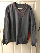 Vintage Starter Pullover Size Medium Gray Grey And Orange Jacket