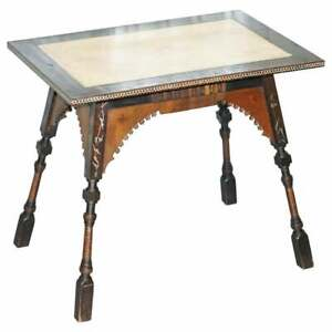 IMPORTANT AND RARE ORIGINAL CIRCA 1900 CARLO BUGATTI OCCASIONAL TABLE EBONISED