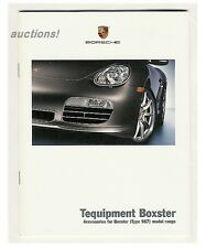 2006 2007 PORSCHE BOXSTER 987 TEQUIPMENT OPTIONAL ACCESSORIES BROCHURE 29p MINT