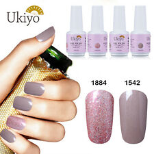 Ukiyo 2 Pcs Soak Off UV Gel Polish UV LED Nude Glitter Pink Eur So Chic