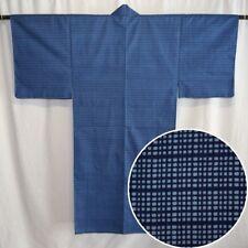 """Vintage Japanese Yukata Kimono Robe Man's Summer Cotton """"Two Blues"""""""