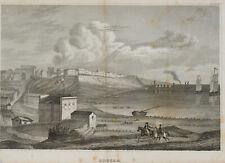 Unbekannter Künstler, Hafen von Odessa vom Meer aus, Stahlstich, um 1800