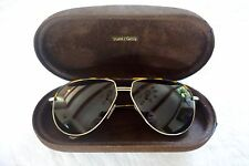 ~ AUTHENTIC TOM FORD BROWN FRAME COLE AVIATOR SUNGLASSES (TRES GLAM!) ~