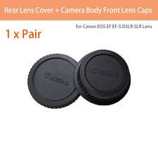 Rear Lens Cover+Camera Body Front Lens Caps for Canon EOS EF EF-S DSLR SLR Lens