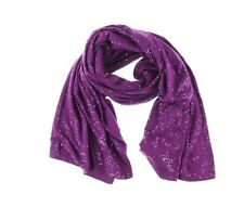 DKNY NEW Purple Cotton Sequined Scarf Shawl/Wrap O/S Retail $125