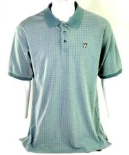 Big Dogs Mens Size XL Green Plaid Cotton Polyester Polo Shirt