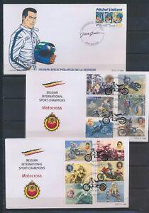 XC66676 Belgium motorcycles comics FDC's used