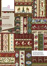 Anita Goodesign Embroidery Machine Design CD HOLIDAY STRIPES