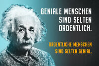 Albert Einstein Collage Spruch 16 Blechschild Schild gewölbt Tin Sign 20 x 30 cm