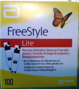 FreeStyle LITE 100 Blutzuckerteststreifen // neu/OVP // MHD 01.2022