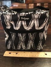 Thirty One LITTLES CARRY-ALL CADDY in BLACK LINKS  Retired Print NEW!