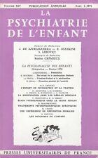 LA PSYCHIATRIE DE L'ENFANT VOLUME XIV FASC. 1-1971 - PUF [A. FREUD, H. SEGAL...]
