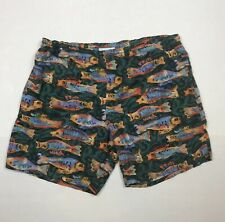 Lacoste Chemise Vintage Fish Swim Trunks Shorts Baggies Beach Large L Rare