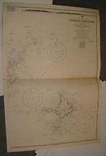 Vintage Admiralty Chart 262A GUERNSEY, HERM & SARK1872 edn