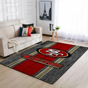 San Francisco 49ers  Team Wooden Style Nice Gift Home Decor Rectangle Rug