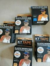 KT Tape Therapeutic Elastic Body Sports Tape Roll of 20 Strips - Cotton lot of 5